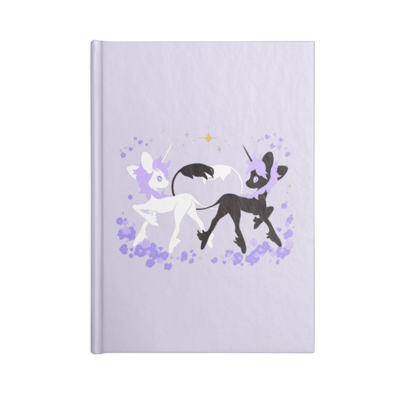 Unicorn Pair Accessories Lined Journal Notebook by StrangelyKatie's Store