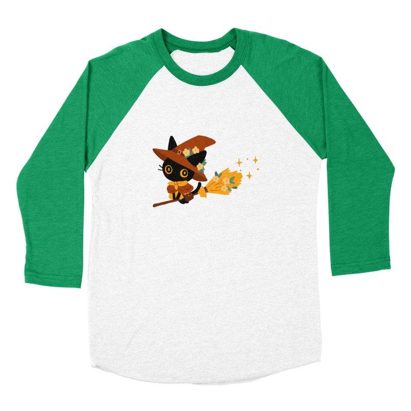 Cat Witch Women's Baseball Triblend Longsleeve T-Shirt by StrangelyKatie's Store