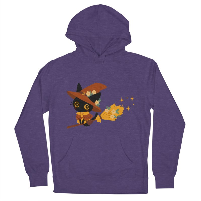 Cat Witch Women's French Terry Pullover Hoody by StrangelyKatie's Store