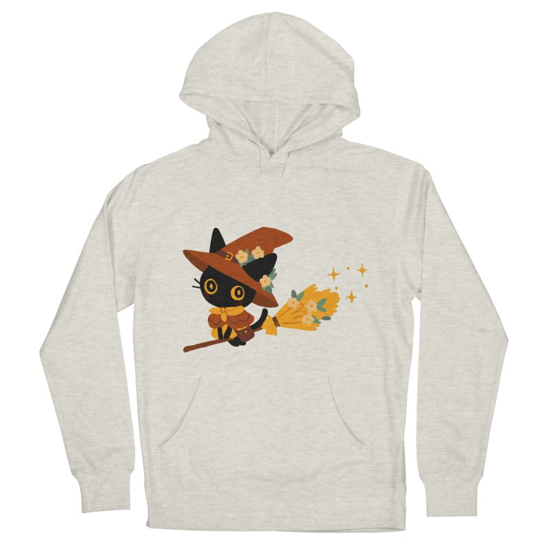 Cat Witch Men's French Terry Pullover Hoody by StrangelyKatie's Store