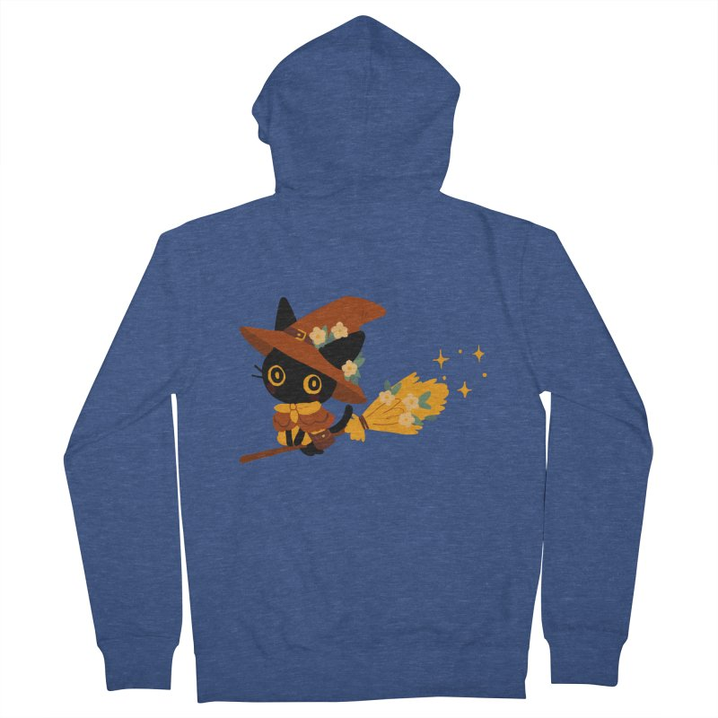 Cat Witch Women's French Terry Zip-Up Hoody by StrangelyKatie's Store