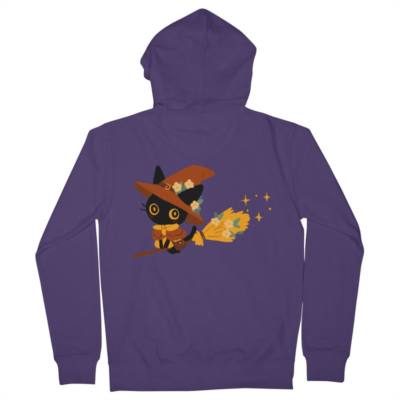 Cat Witch Women's Zip-Up Hoody by StrangelyKatie's Store