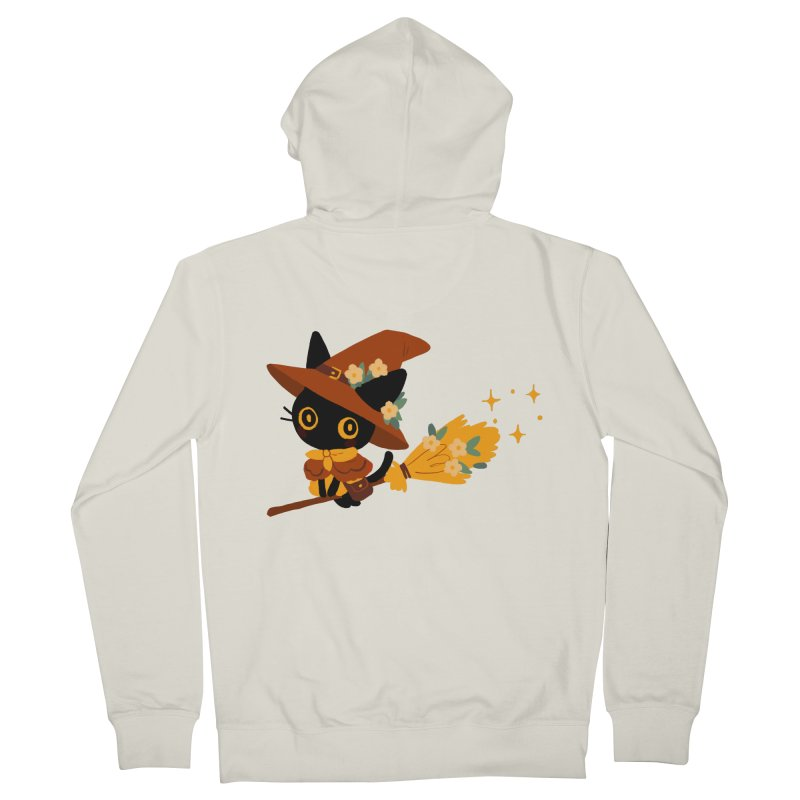Cat Witch Men's French Terry Zip-Up Hoody by StrangelyKatie's Store
