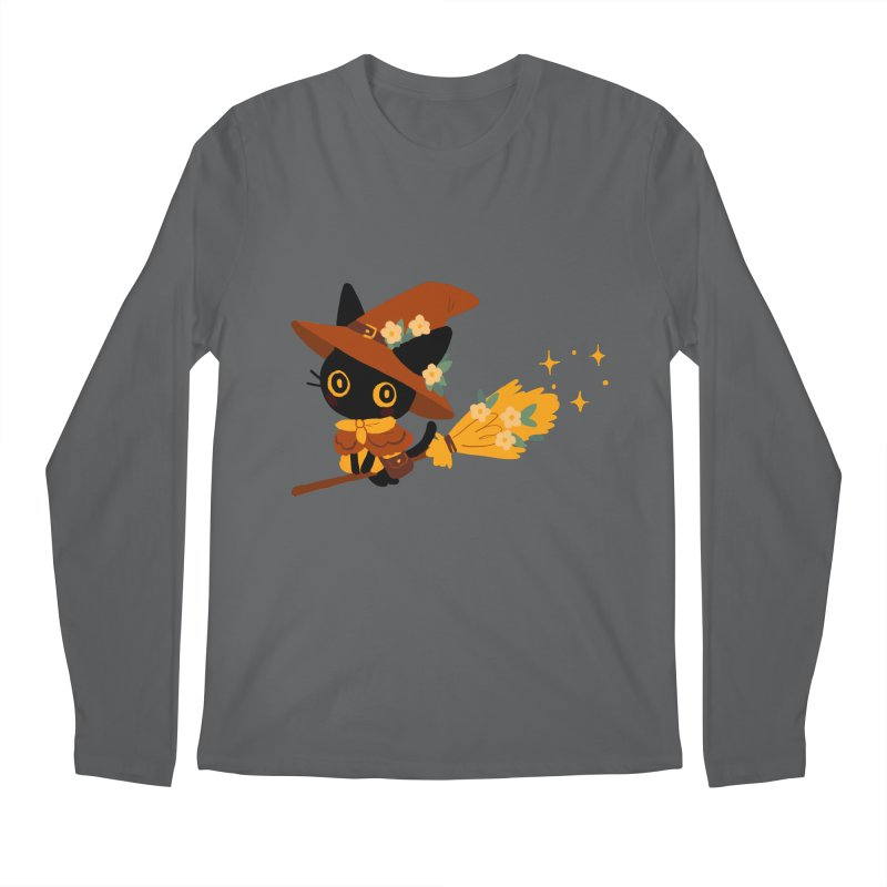 Cat Witch Men's Longsleeve T-Shirt by StrangelyKatie's Store