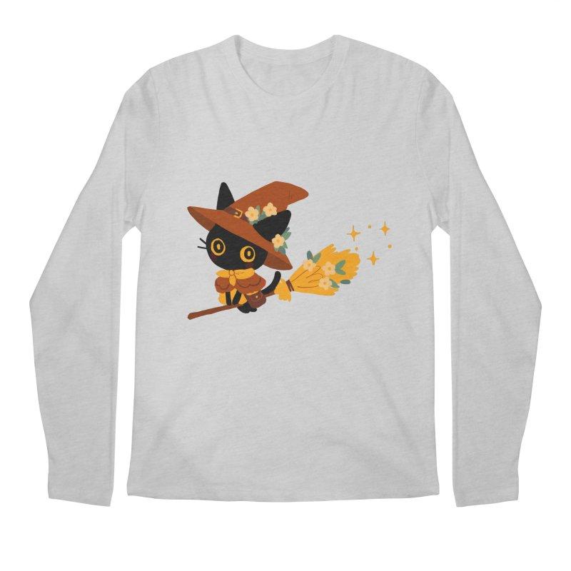 Cat Witch Men's Longsleeve T-Shirt by StrangelyKatie's Store