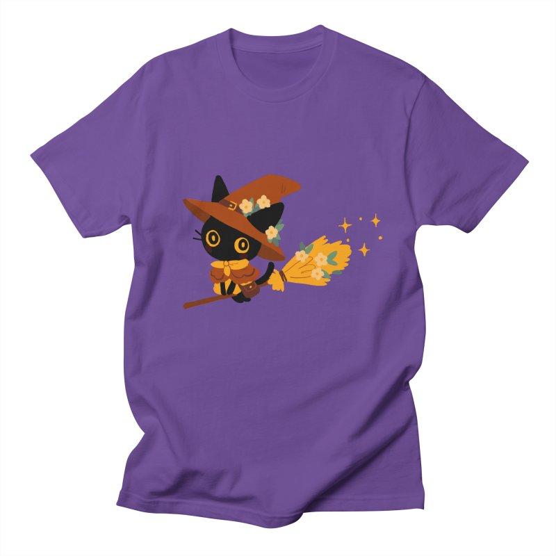 Cat Witch Women's Regular Unisex T-Shirt by StrangelyKatie's Store