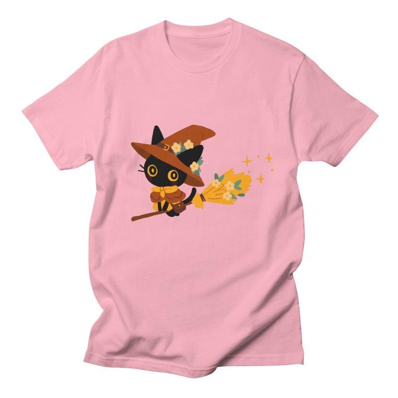 Cat Witch Men's T-Shirt by StrangelyKatie's Store