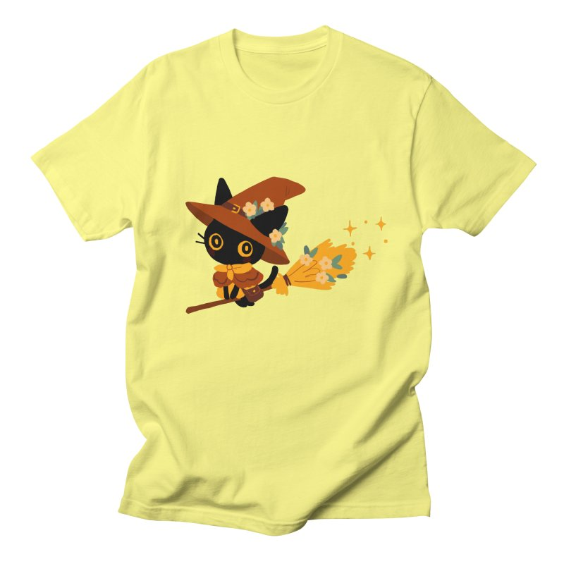 Cat Witch Men's T-Shirt by StrangelyKatie's Store
