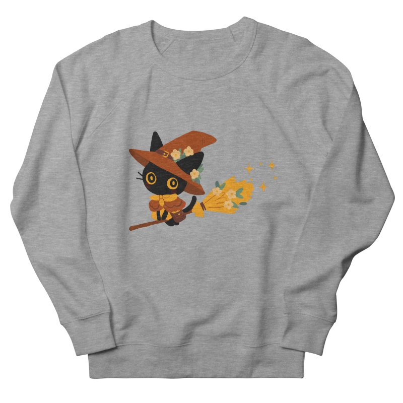 Cat Witch Men's French Terry Sweatshirt by StrangelyKatie's Store
