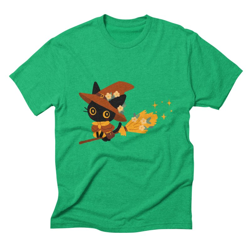 Cat Witch Men's Triblend T-Shirt by StrangelyKatie's Store