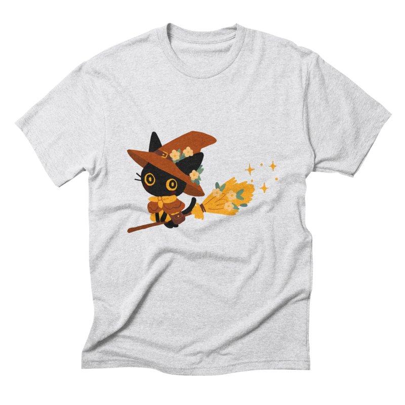 Cat Witch Men's Triblend T-Shirt by StrangelyKatie's Store