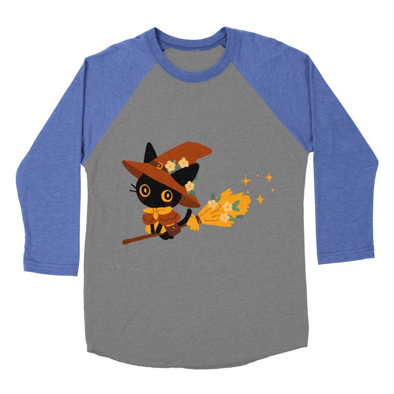 Cat Witch Women's Baseball Triblend Longsleeve T-Shirt by StrangelyKatie's Store