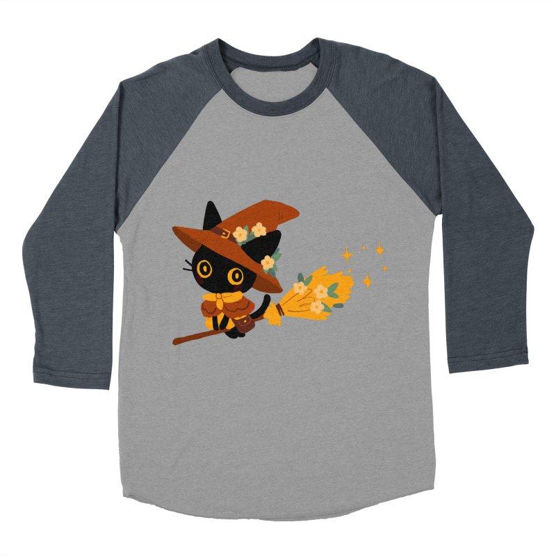 Cat Witch Men's Baseball Triblend Longsleeve T-Shirt by StrangelyKatie's Store