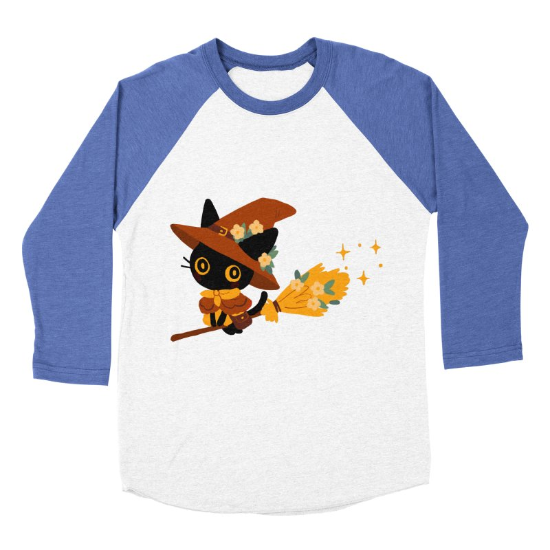 Cat Witch Men's Baseball Triblend Longsleeve T-Shirt by StrangelyKatie's Store