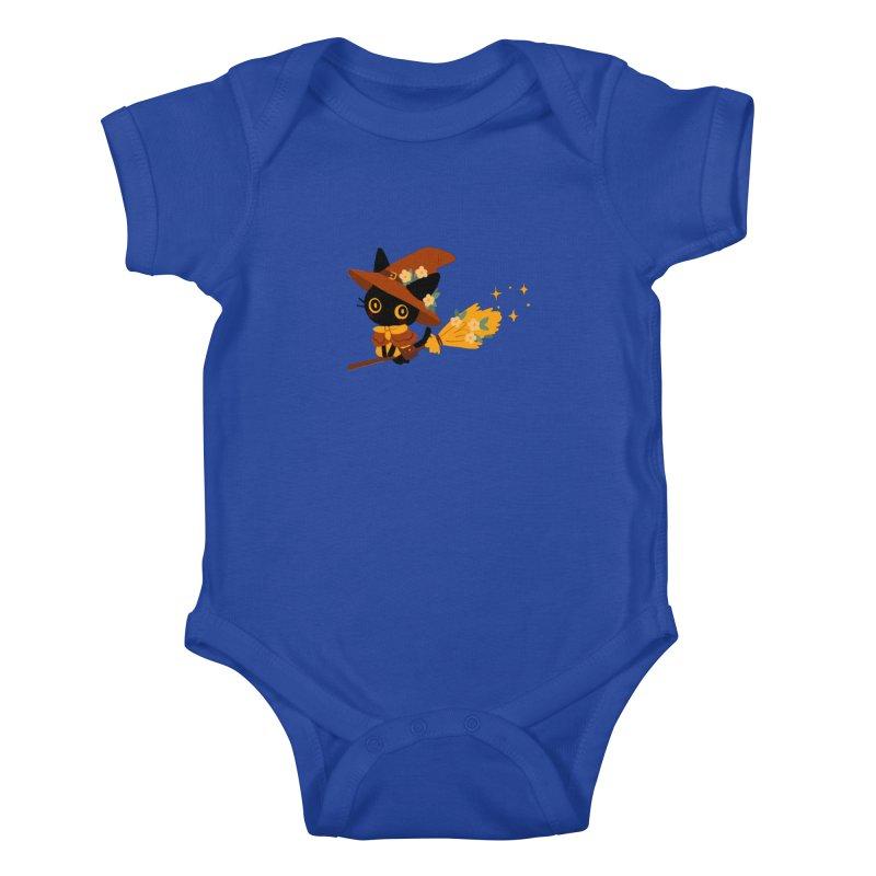 Cat Witch Kids Baby Bodysuit by StrangelyKatie's Store