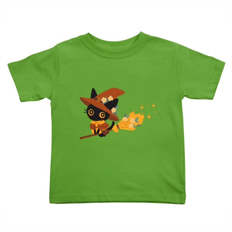 Cat Witch Kids Toddler T-Shirt by StrangelyKatie's Store