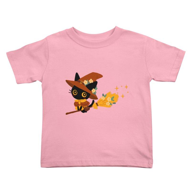 Cat Witch Kids Toddler T-Shirt by StrangelyKatie's Store