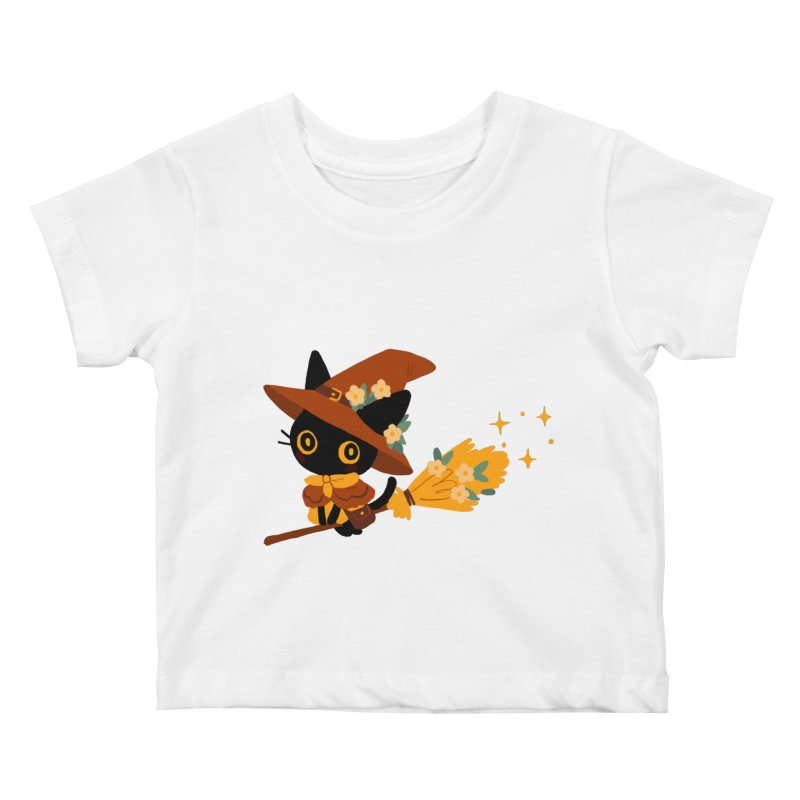 Cat Witch Kids Baby T-Shirt by StrangelyKatie's Store