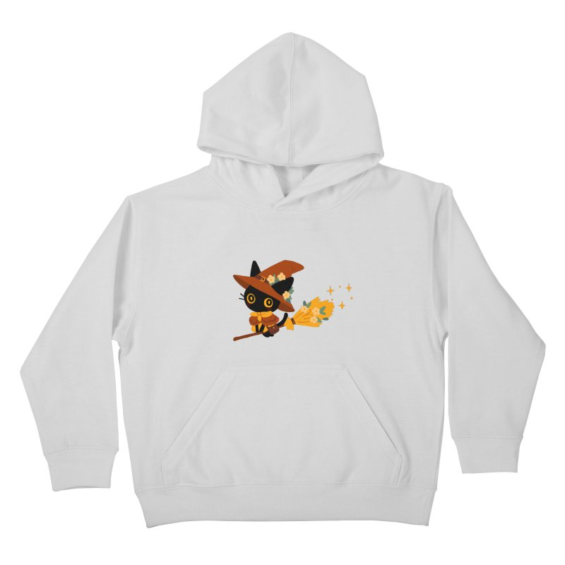 Cat Witch Kids Pullover Hoody by StrangelyKatie's Store