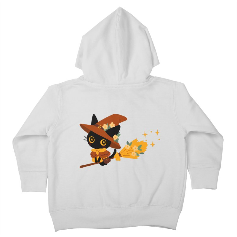 Cat Witch Kids Toddler Zip-Up Hoody by StrangelyKatie's Store