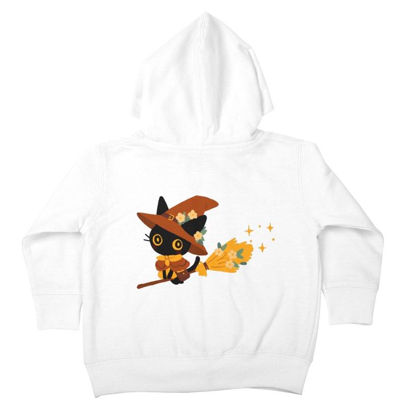 Cat Witch Kids Toddler Zip-Up Hoody by StrangelyKatie's Store