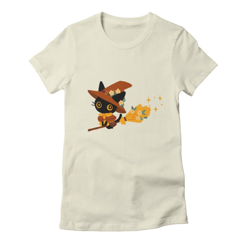 Cat Witch Women's T-Shirt by StrangelyKatie's Store