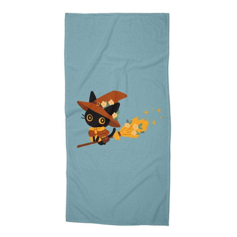 Cat Witch Accessories Beach Towel by StrangelyKatie's Store