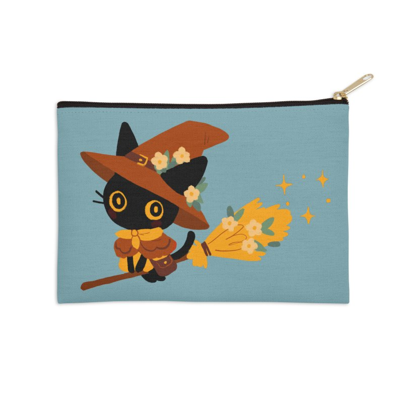 Cat Witch Accessories Zip Pouch by StrangelyKatie's Store
