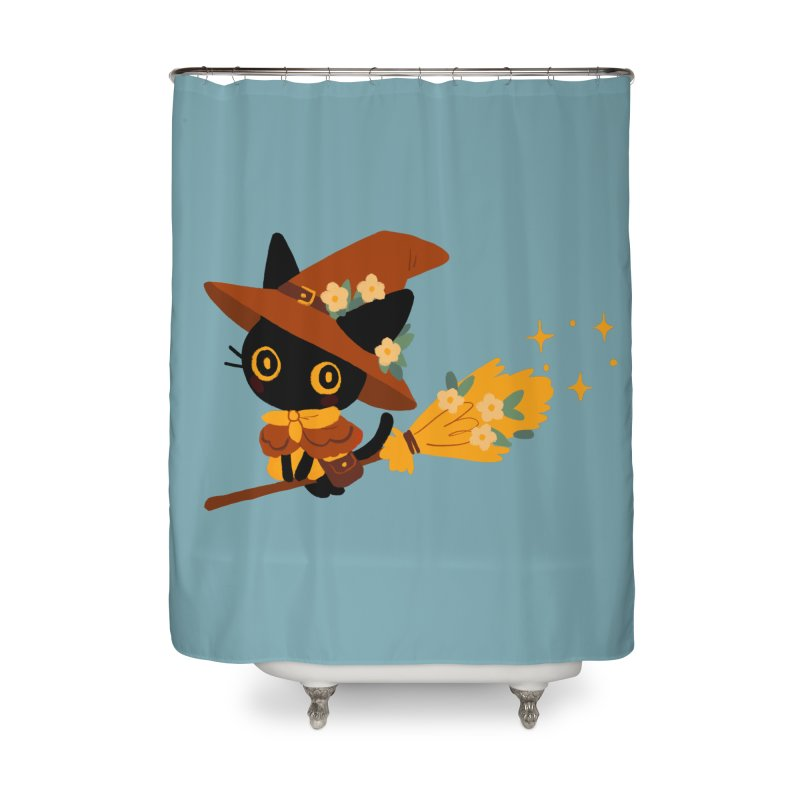 Cat Witch Home Shower Curtain by StrangelyKatie's Store