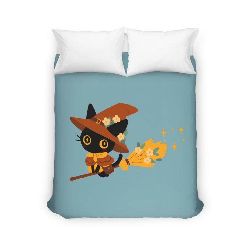 Cat Witch Home Duvet by StrangelyKatie's Store