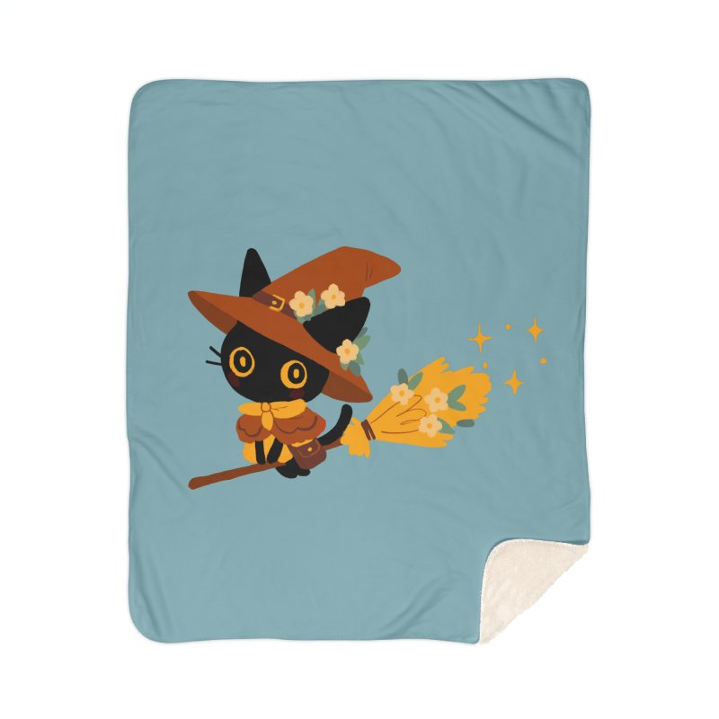 Cat Witch Home Blanket by StrangelyKatie's Store