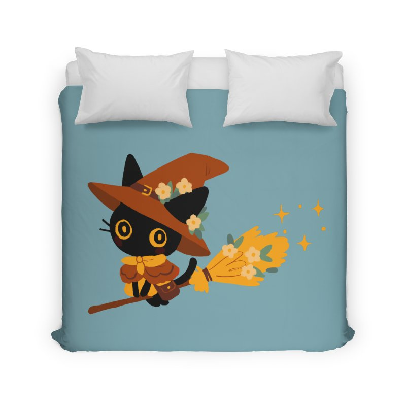 Cat Witch Home Duvet by StrangelyKatie's Store
