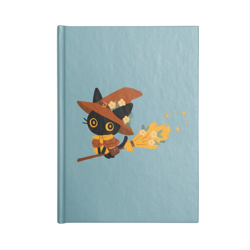 Cat Witch Accessories Lined Journal Notebook by StrangelyKatie's Store