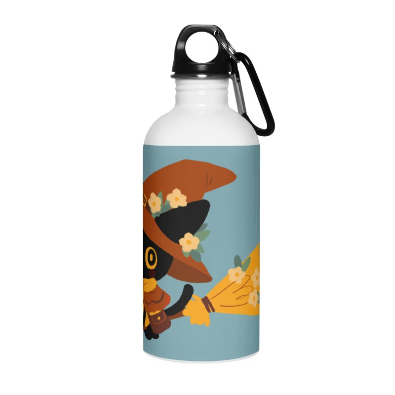 Cat Witch Accessories Water Bottle by StrangelyKatie's Store