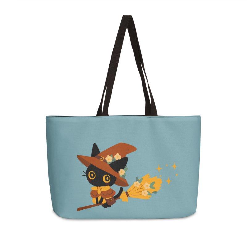 Cat Witch Accessories Weekender Bag Bag by StrangelyKatie's Store