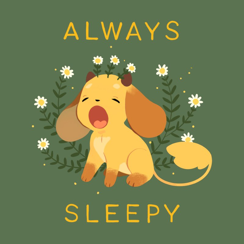 Always Sleepy Accessories Sticker by StrangelyKatie's Store