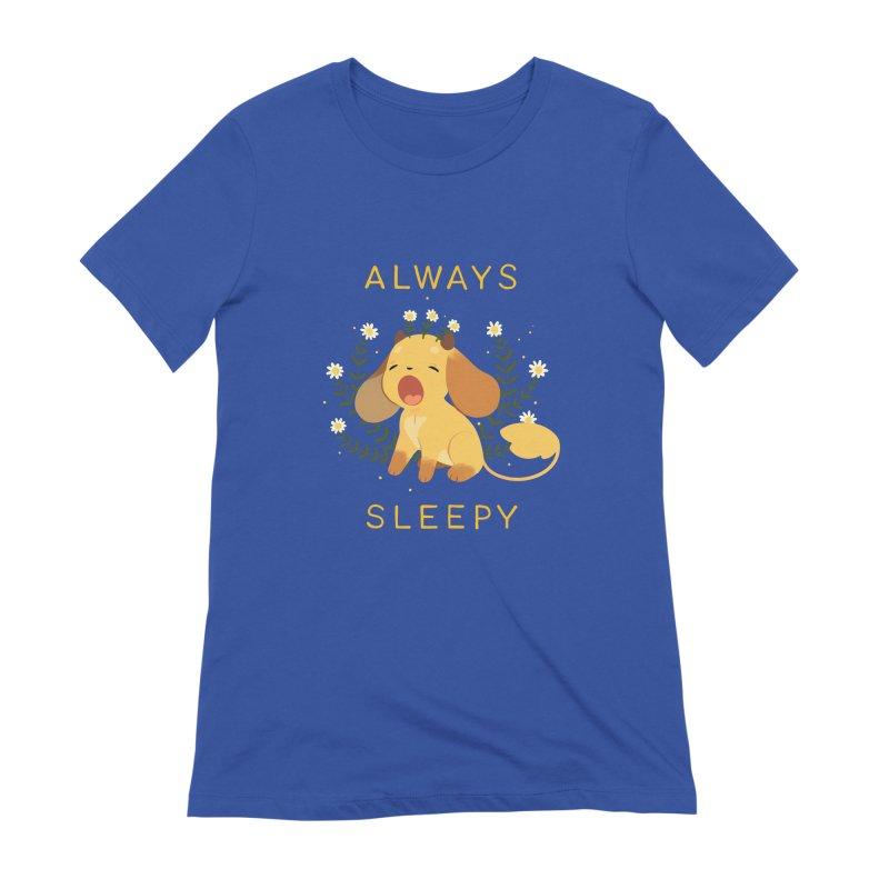 Always Sleepy Women's Extra Soft T-Shirt by StrangelyKatie's Store