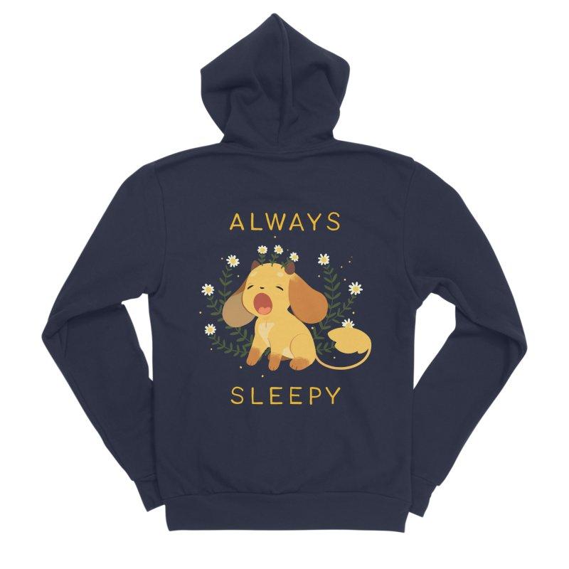 Always Sleepy Women's Sponge Fleece Zip-Up Hoody by StrangelyKatie's Store