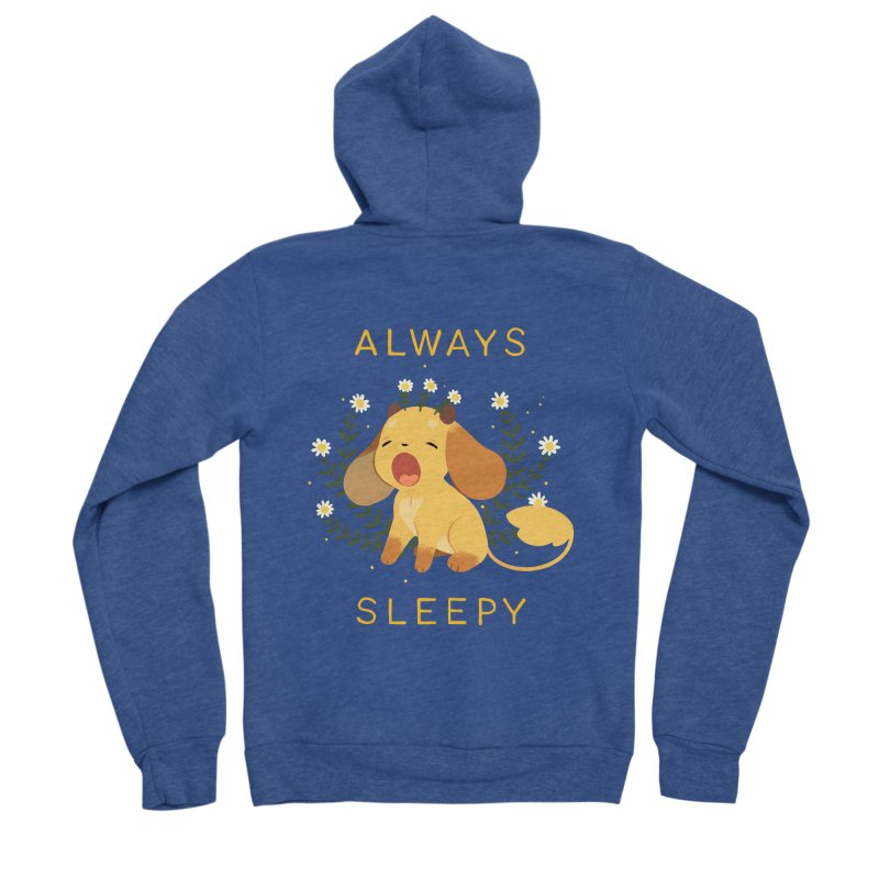 Always Sleepy Men's Sponge Fleece Zip-Up Hoody by StrangelyKatie's Store