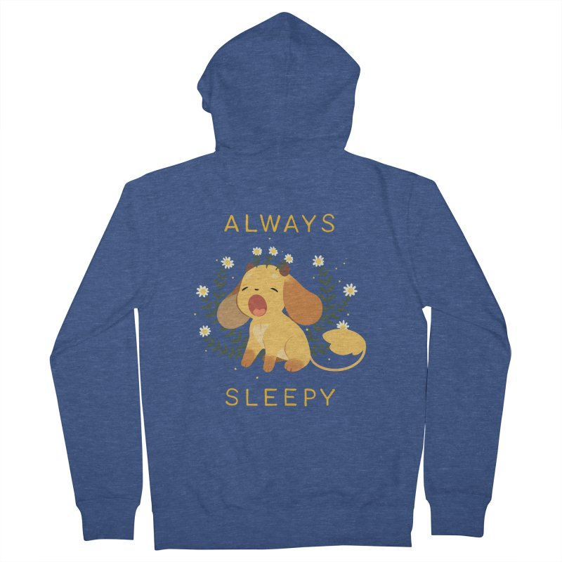 Always Sleepy Men's French Terry Zip-Up Hoody by StrangelyKatie's Store
