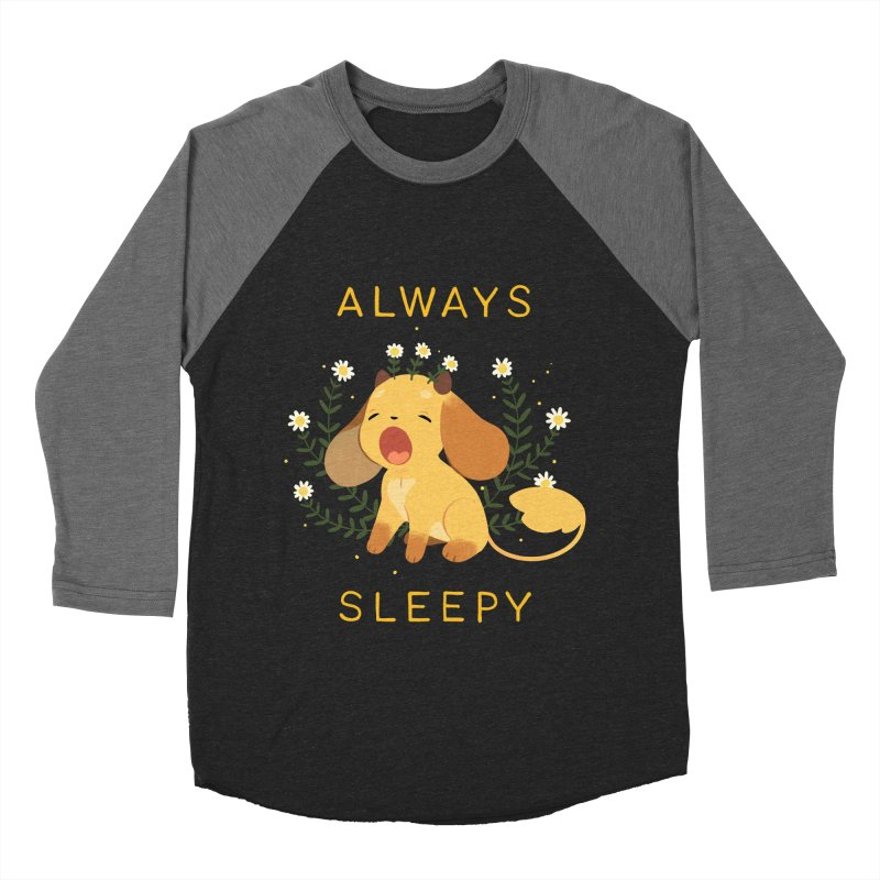 Always Sleepy Men's Baseball Triblend Longsleeve T-Shirt by StrangelyKatie's Store