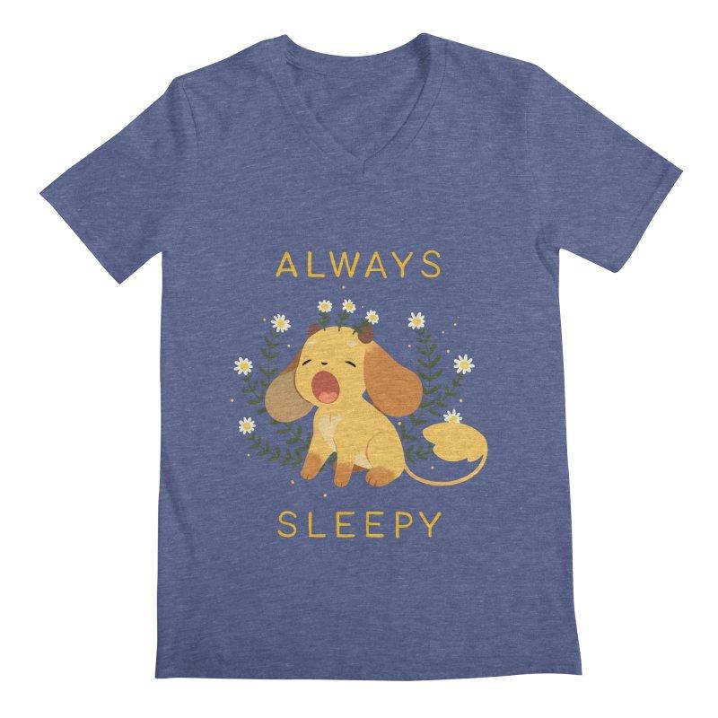 Always Sleepy Men's Regular V-Neck by StrangelyKatie's Store