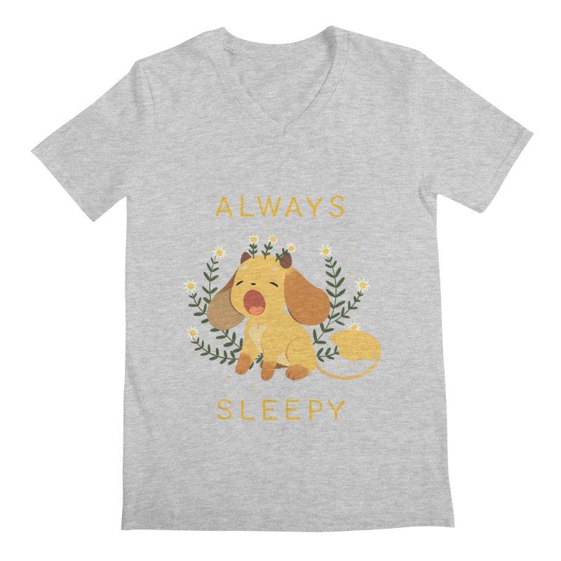 Always Sleepy Men's V-Neck by StrangelyKatie's Store