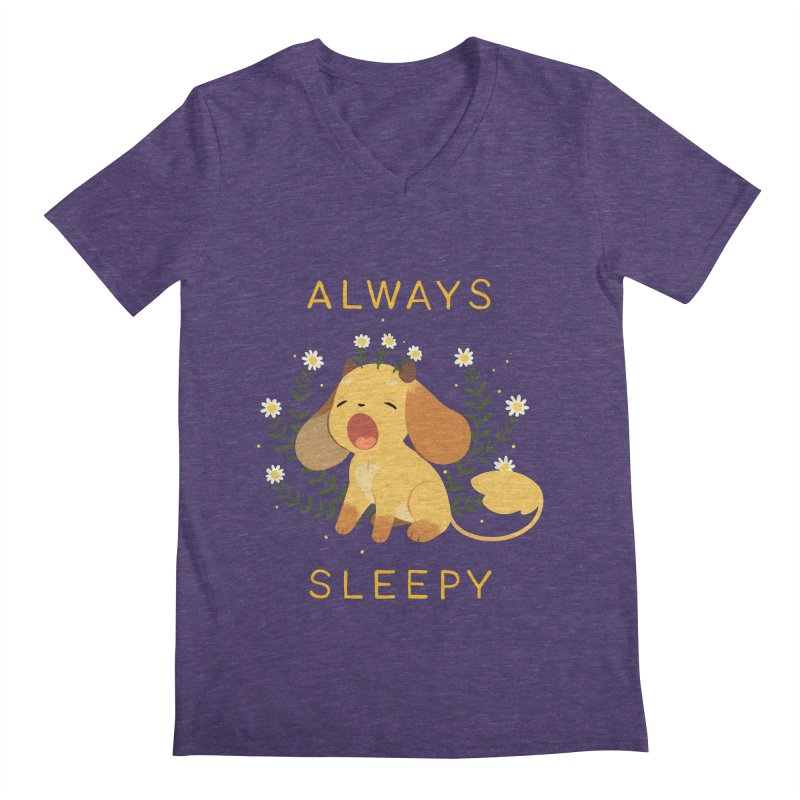 Always Sleepy Men's V-Neck by StrangelyKatie's Store