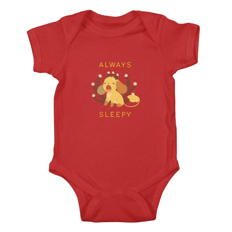 Always Sleepy Kids Baby Bodysuit by StrangelyKatie's Store