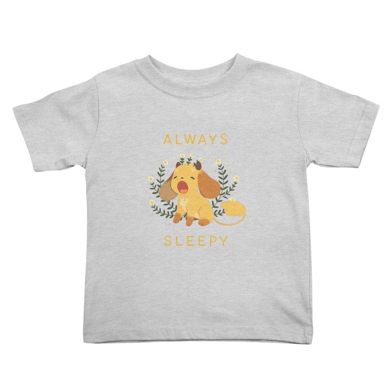 Always Sleepy Kids Toddler T-Shirt by StrangelyKatie's Store