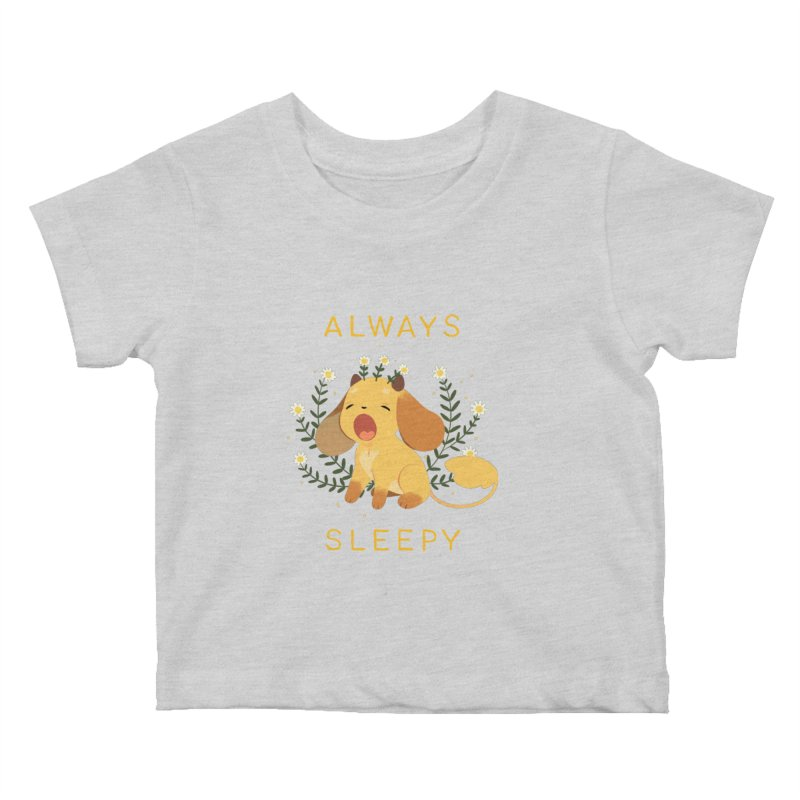 Always Sleepy Kids Baby T-Shirt by StrangelyKatie's Store