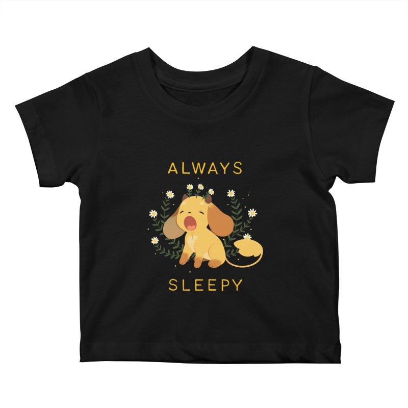Always Sleepy Kids Baby T-Shirt by StrangelyKatie's Store