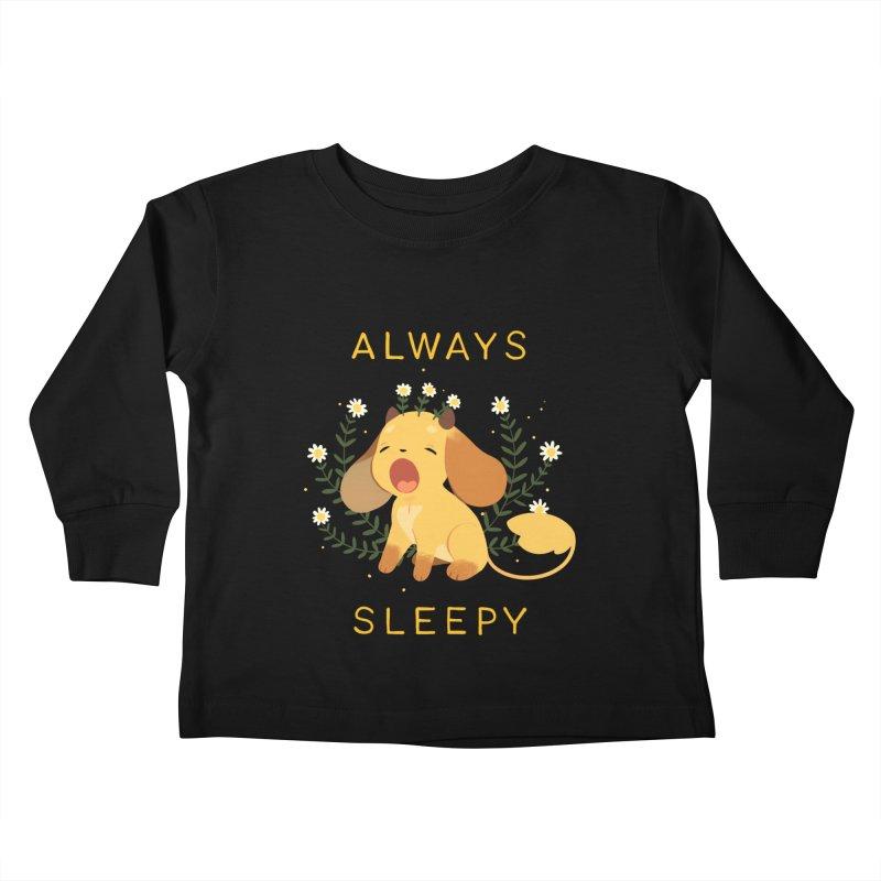 Always Sleepy Kids Toddler Longsleeve T-Shirt by StrangelyKatie's Store