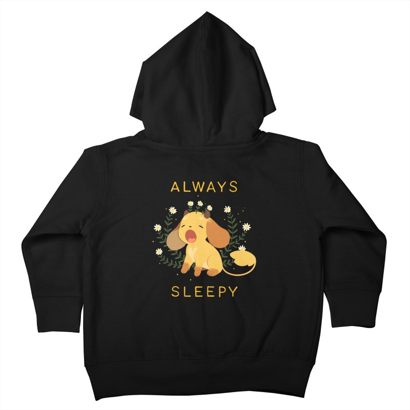 Always Sleepy Kids Toddler Zip-Up Hoody by StrangelyKatie's Store